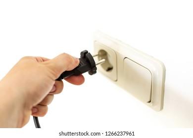 Hand with Plug and socket