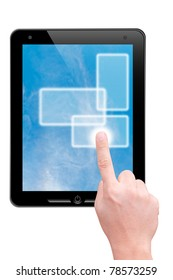 Hand point to touch pad