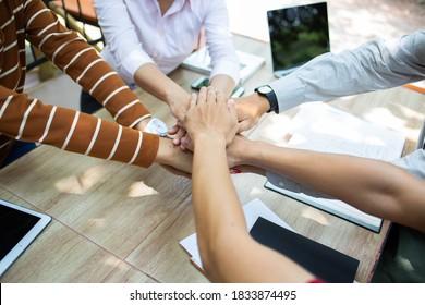 Handpower der Kooperationstätigkeit.Für die Entwicklung nachhaltiger Partnerschaften.Konzept