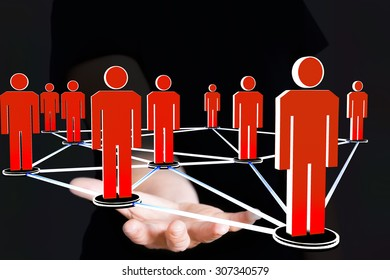 Hand presenting network