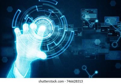 hand press touchscreen