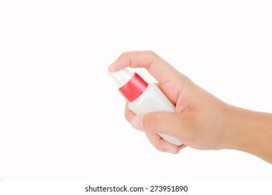 Hand push lotion bottle
