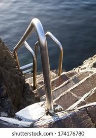 Hand rail at tide pools, Garachico, Tenerife