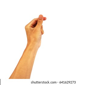 """hand Reach out for show Hand is a symbol that """"Snap"""" on a white background."""