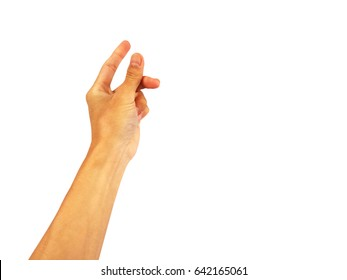 """hand Reach up out for show Hand is a symbol that """"Snap"""" on a white background."""