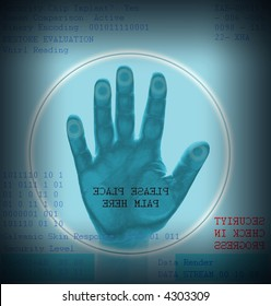 Hand scan for security admittance
