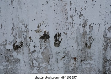 Hand Sculpture on white wall