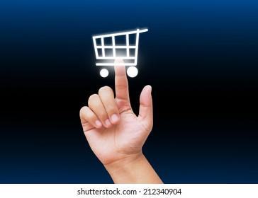 Hand select shopping cart