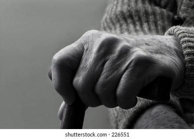 Hand of a senior citizen