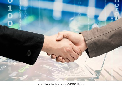 hand shake for business partnership concept
