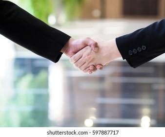 Hand shake businessman