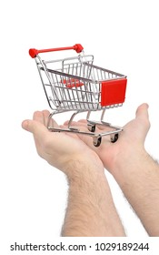 Hand with shopping carts