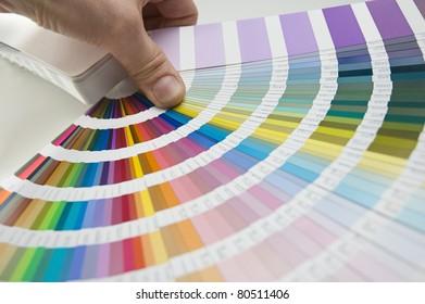 hand showing a color palette