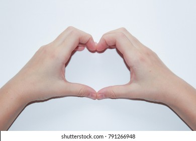 hand shows heart