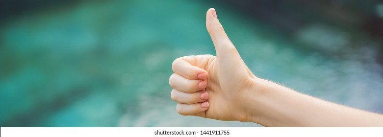 Hand shows like. Pool quality, pool cleaning BANNER, LONG FORMAT