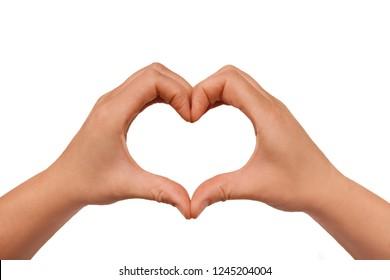 Hand zeigt Liebeszeichen