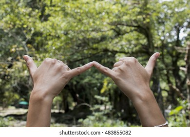 hand sign with natural