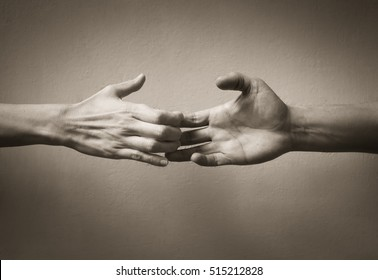 Hand sign of people letting go. Break up concept.