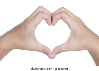 hand sign posture love icon in isolated