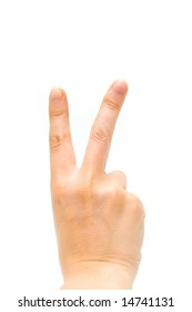 Hand sign V(victory)