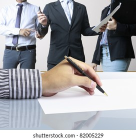 Hand, signed with the pen