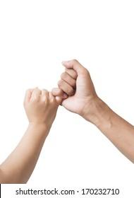 Hand symbol isolated on white background.