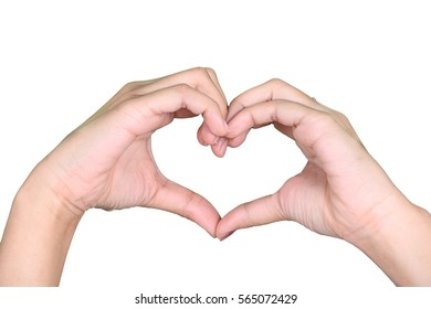 hand symbol of love for Valentine Day