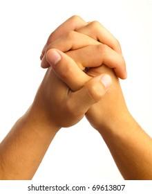 hand symbol on white
