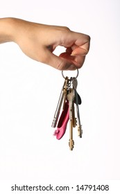 hand take key