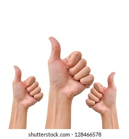 Hand with thumb up for agree or appreciate something
