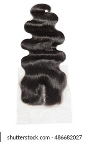 Hand tied natural black human hair middle part body wave lace closure for wigs hair extensions