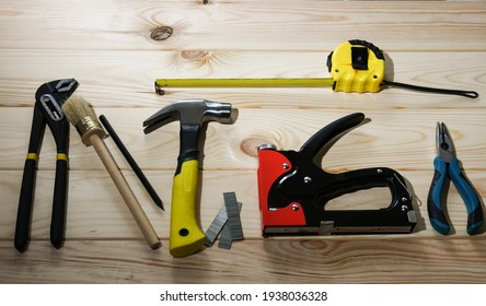 Hand tool tape measure hammer