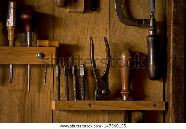 Hand Tools Placed Neatly Their Racks Stock Photo Edit Now 147360155