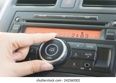 Hand touch on car audio