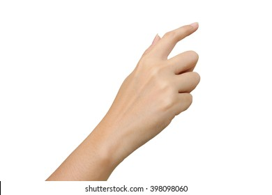 hand touching ,isolate white background