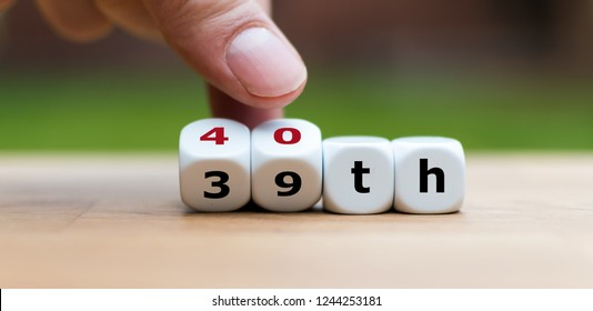 """Hand turns dices and changes the number """"39"""" to """"40"""""""