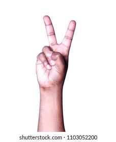 HAND VICTORY SYMBOL