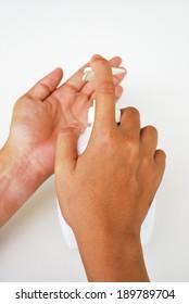 Hand wash in white background