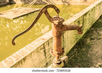 Hand water pump, old manual operated pumps.