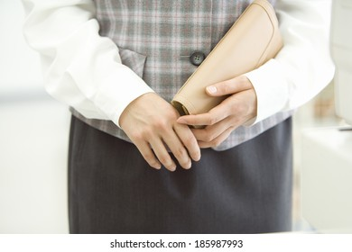 hand of woman doing some shopping at convenience store