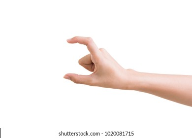 hand of a woman trying to reach or grab something. fling; touch sign.