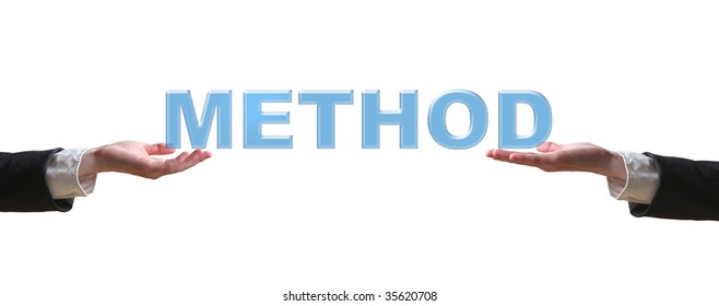 Hand and word - business concept (isolated on white background)