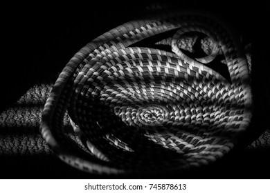 Hand woven African bread basket