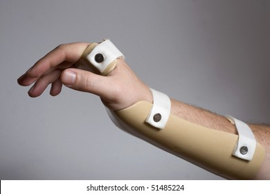 Hand with wrist support brace
