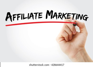 Hand writing Affiliate Marketing with marker, business concept