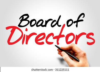 Hand writing Board of Directors, business concept