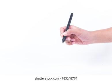Hand writing by pen mouse