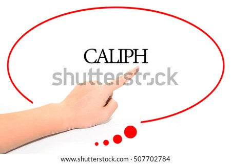 Hand Writing CALIPH Abstract Background Word Stock Photo