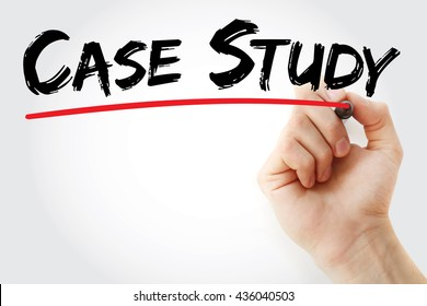 Hand writing Case Study with marker, business concept