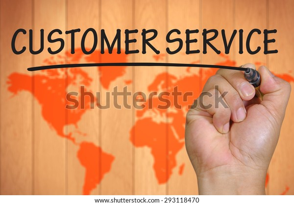 hand writing customer service  .